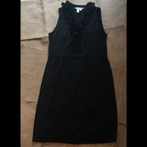 Sleeveless Black Ruffle Career Dress Sz 12